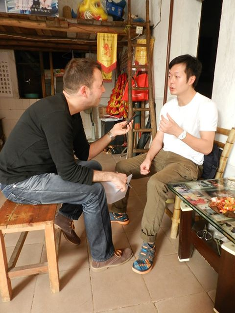 Sifu John Wong with the author